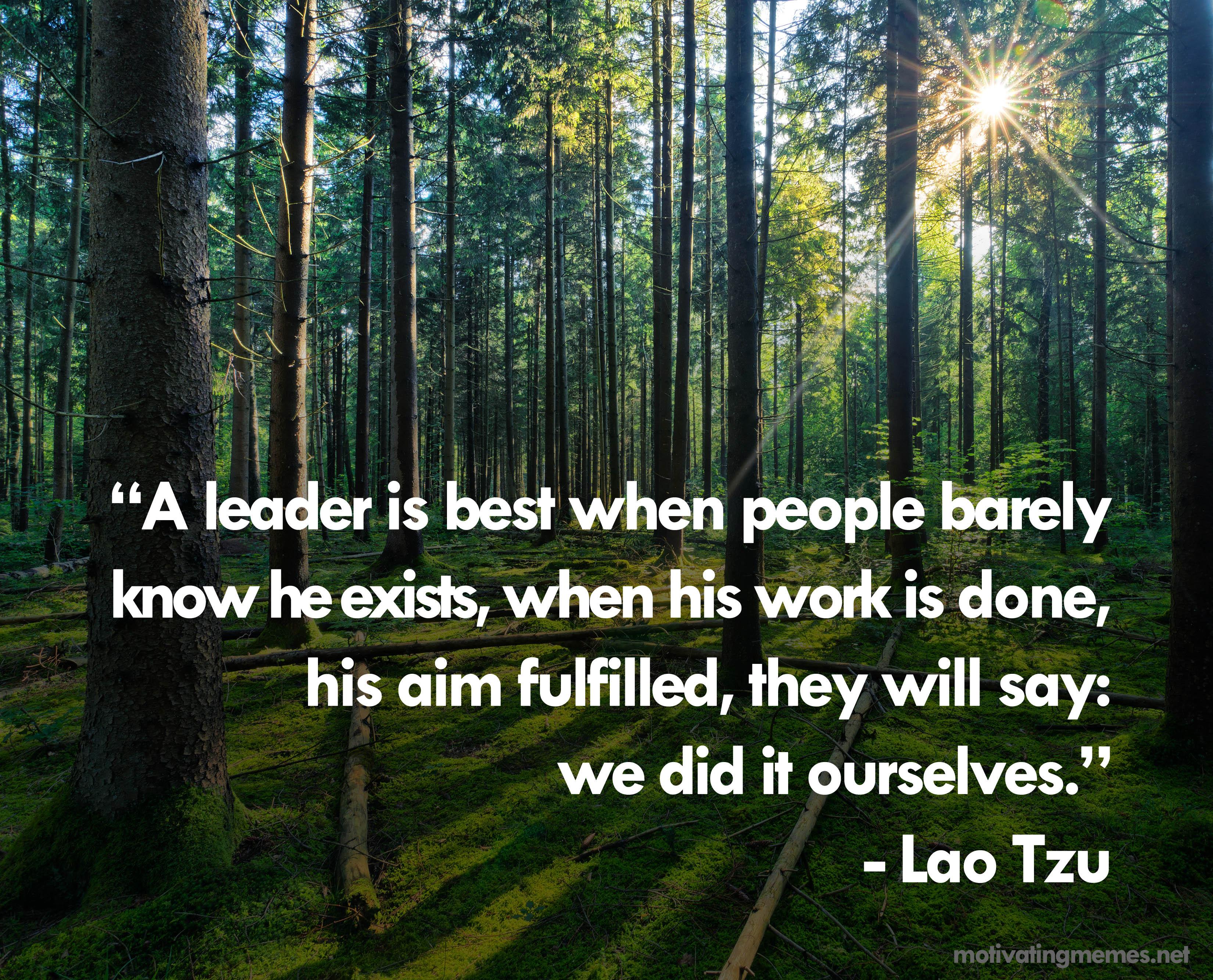 Lao Tzu Quote On Leadership