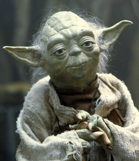 """Do or Do not. There is no try."" -Yoda"