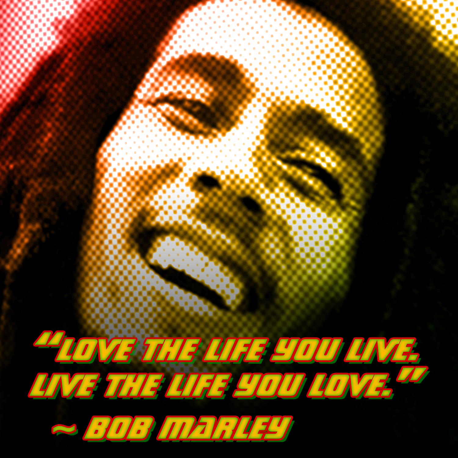 """Live the live you live. Live the life you love."" -Bob Marley"