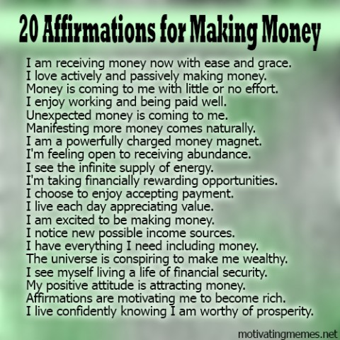 Money affirmations reviews