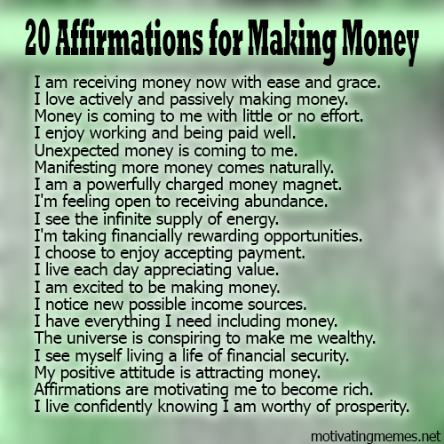 money-affirmations