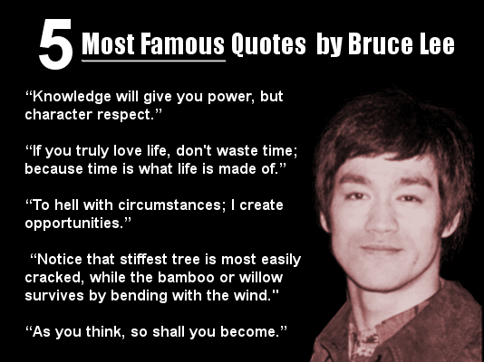 Favori 5 Most Famous Quotes by Bruce Lee - Motivating Memes YK63